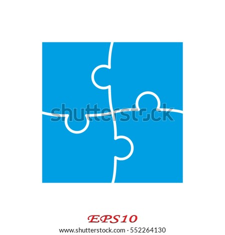 puzzle, icon, vector illustration eps10