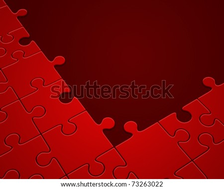 Puzzle in perspective vector background. Eps 10