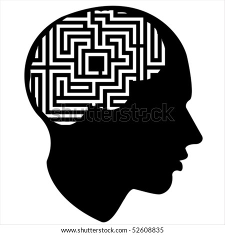 puzzle of the human mind Isolated over background and groups, vector illustration