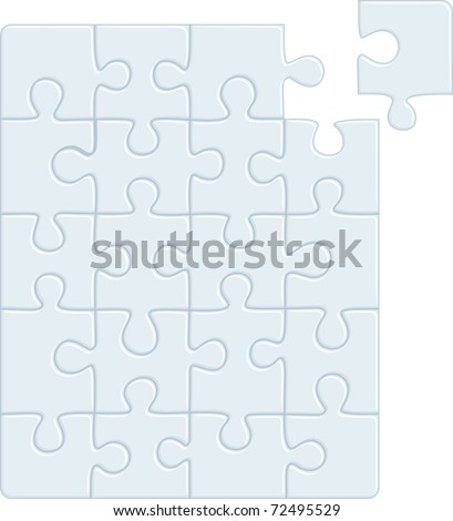 Puzzle pattern (removable pieces). Vector illustration