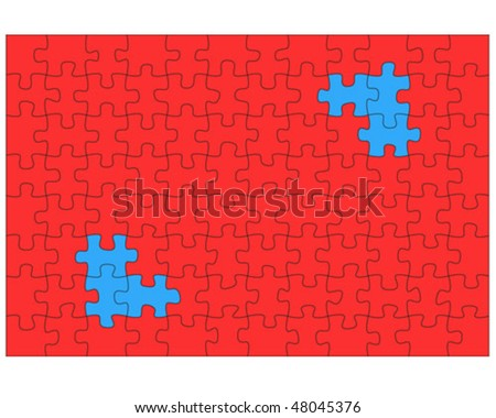 puzzle pattern, vector illustration