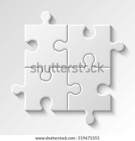 Puzzle piece business presentation. Step process diagram. Section compare banner.