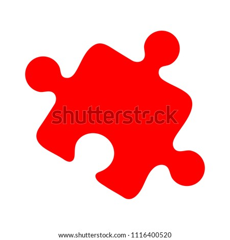 puzzle piece icon, vector puzzle illustration symbol, jigsaw element shape isolated