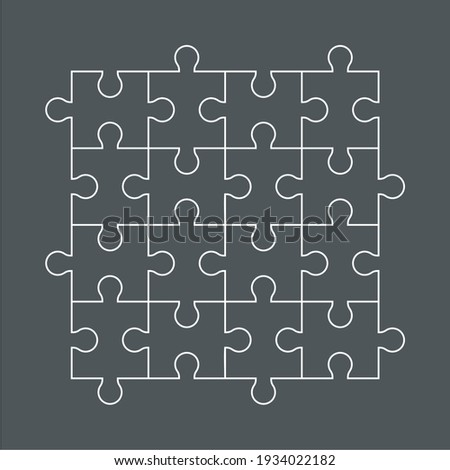 Puzzle simple piece template quality vector illustration cut