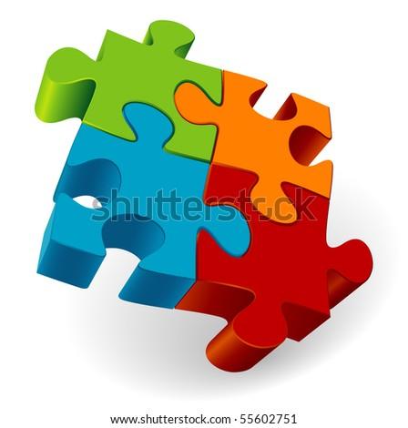 Puzzle. Vector.
