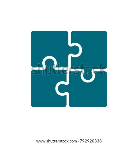 puzzle vector icon, puzzle icon in trendy flat style