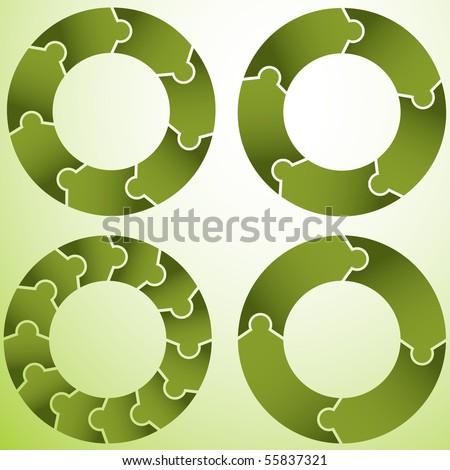 Puzzle Wheel - stock vector