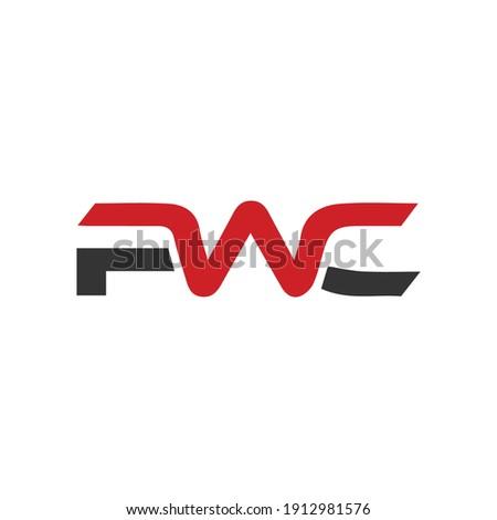 PWC Letter Logo Design Vector .