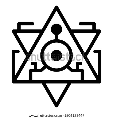 Pyramid alchemy icon. Outline pyramid alchemy vector icon for web design isolated on white background