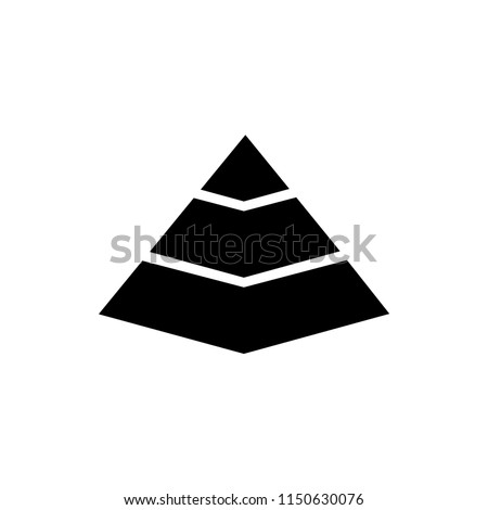 Pyramid Chart. Flat Vector Icon illustration. Simple black symbol on white background. Pyramid Chart sign design template for web and mobile UI element