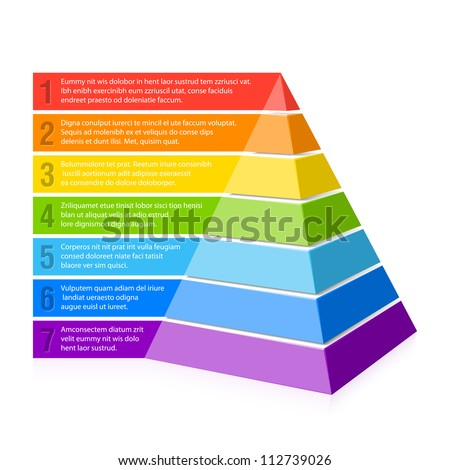 Pyramid chart. Vector.