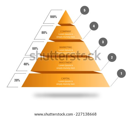 pyramid chart vector for your