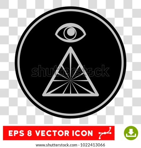 Pyramid Eye EPS vector icon. Illustration style is flat iconic symbol on chess transparent background.