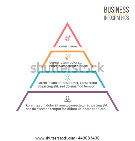 pyramid for infographics