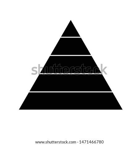 pyramid icon. finance pyramide sign.