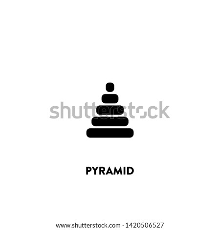 pyramid icon vector. pyramid sign on white background. pyramid icon for web and app