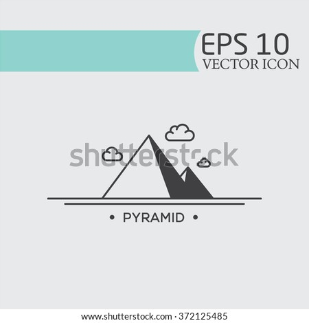 Pyramid icon vector. triangles. Egypt