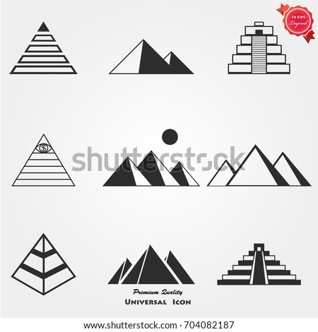 Pyramid icons vector