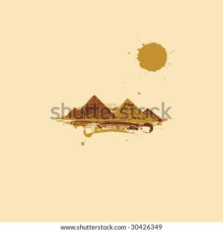 pyramid in desert