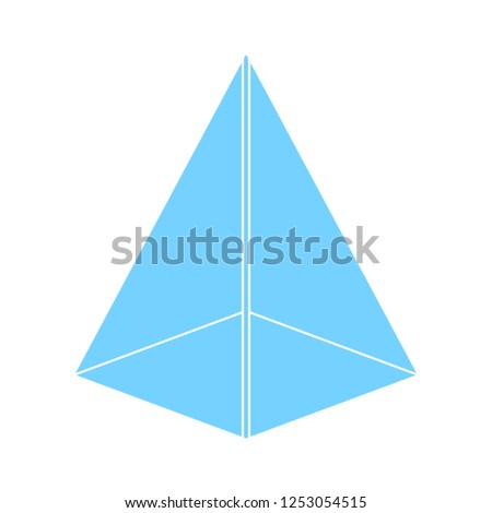 pyramid shape icon