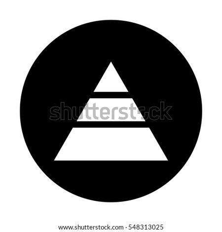 Pyramid vector icon.