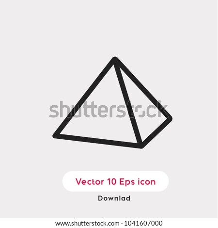 Pyramid vector icon. Egypt symbol. Best modern illustration flat for web and mobile apps design