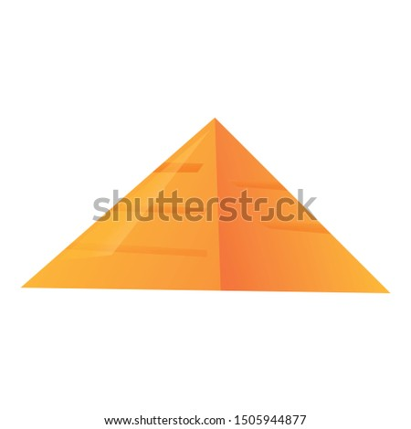 Pyramide icon. Cartoon of pyramide vector icon for web design isolated on white background