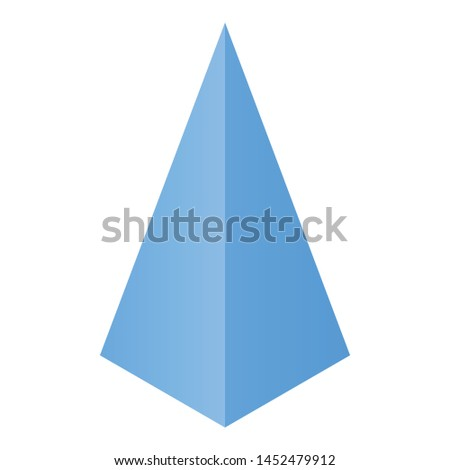Pyramide icon. Isometric of pyramide vector icon for web design isolated on white background