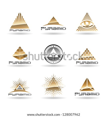 Pyramids. Pyramid With Eye. Vol 2. - stock vector