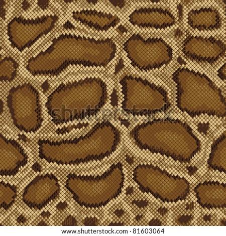 Python Pattern seamless textile design - stock vector