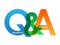 Q&A letters banner