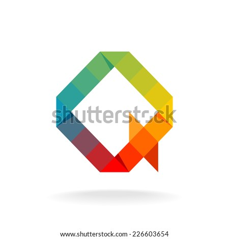 Rainbow Colors Logos Rainbow Color Flat Squares And