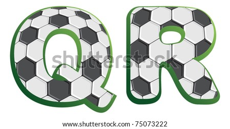 Alphabet Football - Soccer Type - Stock Vector 75073222 ...