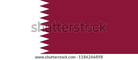 Qatar flag. Official colors. Correct proportion. Vector illustration