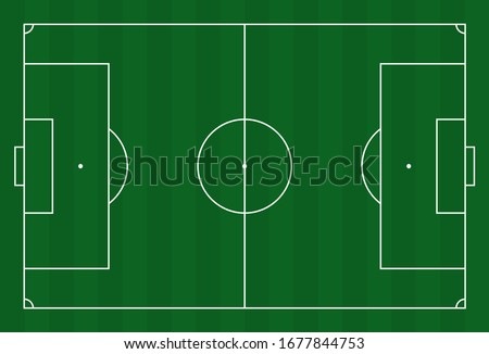 qatar 2022 Green grass field background. Vector Football - Soccer Field. Stock vector illustration