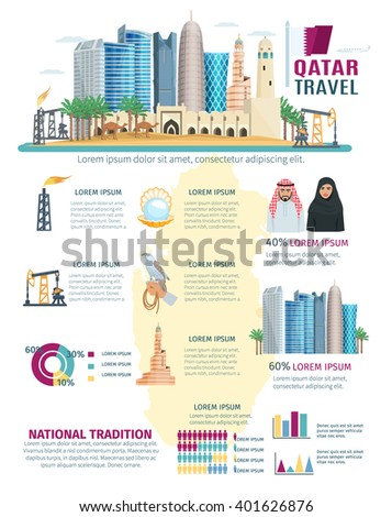 qatar infographics with concept
