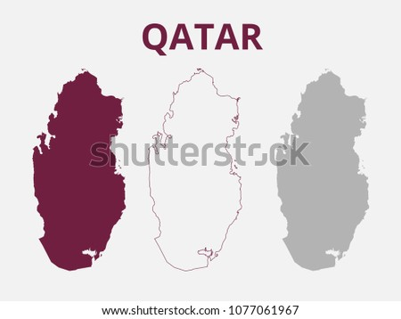 Qatar map vector