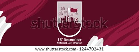Qatar National Day Vector Illustration. Suitable for greeting card, poster and banner.