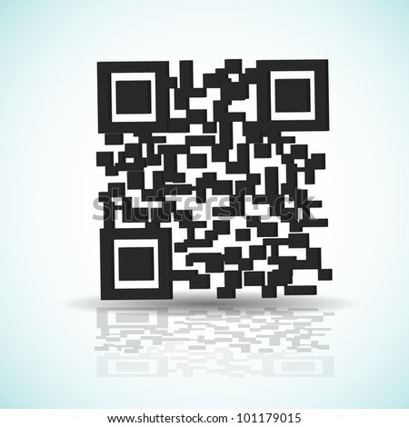 QR code background with shadow