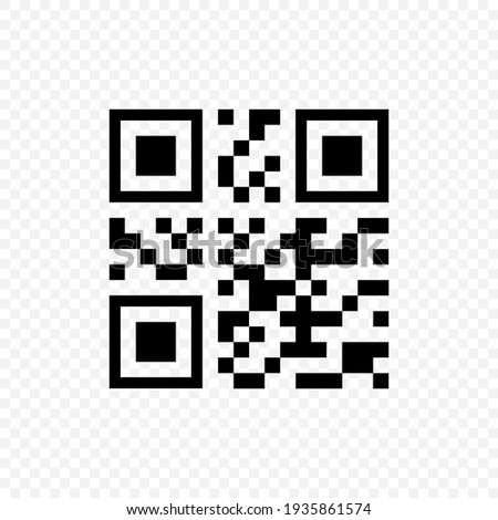 QR code black vector icon. Qr code payment scanning symbol isolated. Vector EPS 10