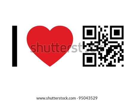 QR Code design concept 'I Love QR Code'