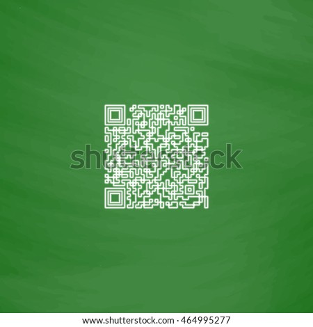 qr code outline vector icon