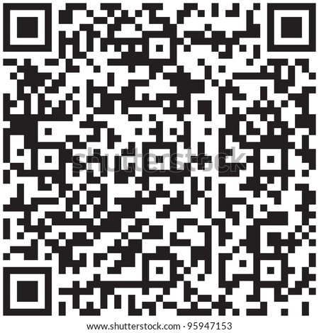 qr code vector pattern. Product barcode 2d square label
