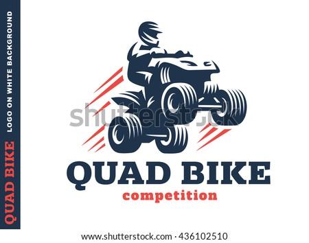 Quad bike competition. Logo design on a white background