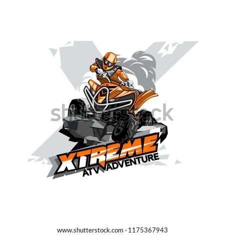 Quad Bike Off-Road ATV Logo, Extreme adventure. Stock photo ©