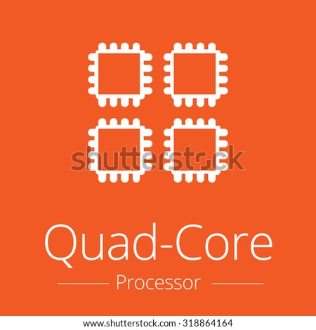 quad core processor icon