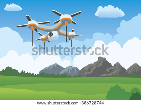 quadcopter aerial drone flying