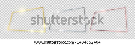 quadrangular shiny frames with