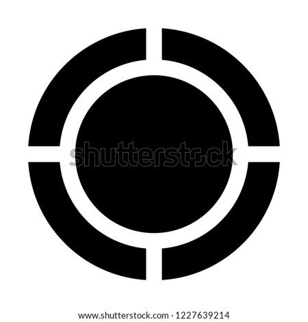 quadrant circle diagram Stock photo ©