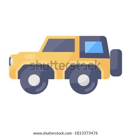 Quadro jeep icon design, editable vector of travel transport  Foto stock ©